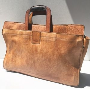 HARTMANN leather briefcase bag